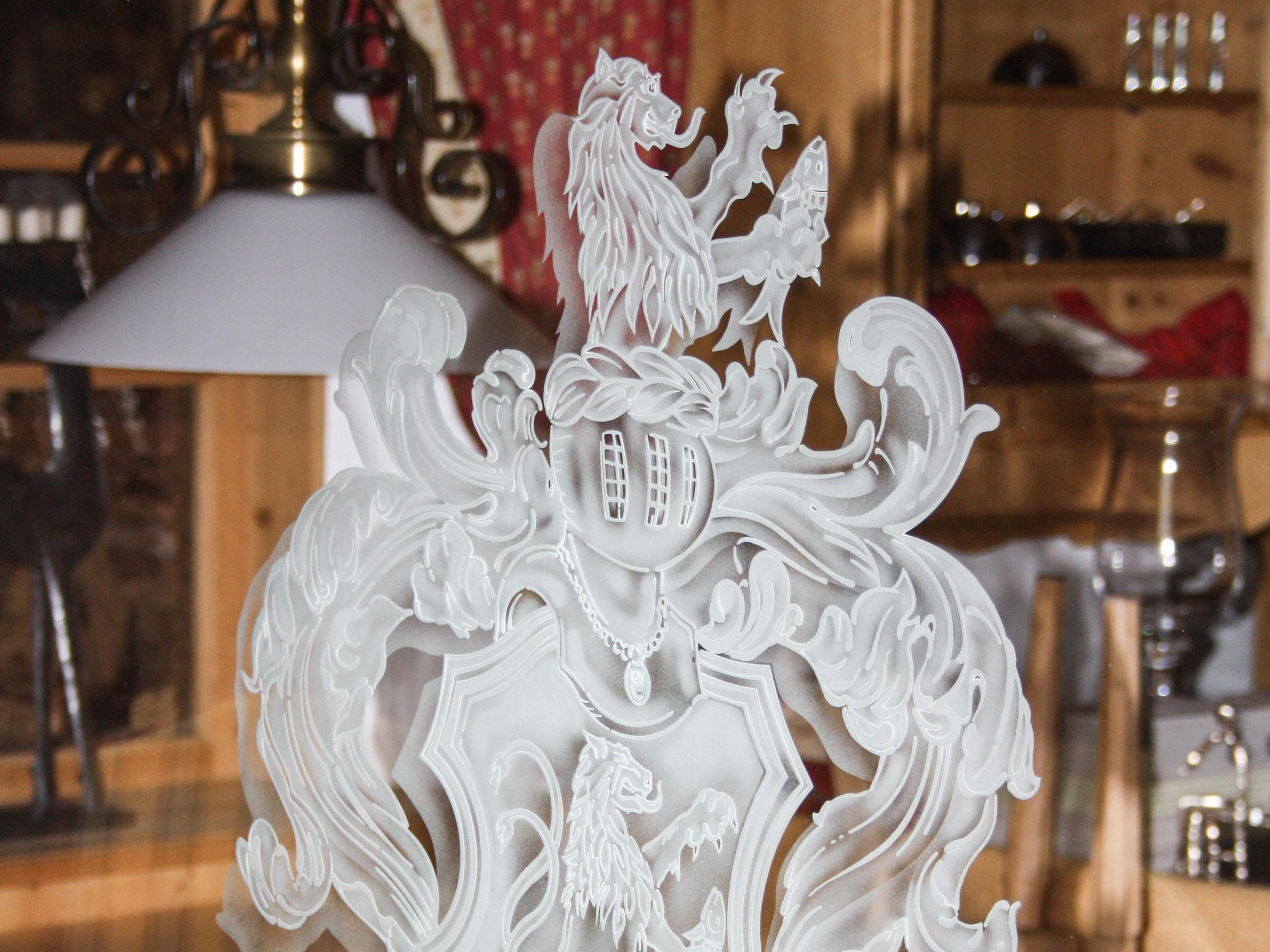 bedrucktes lackiertes glas glas schuhmann. Black Bedroom Furniture Sets. Home Design Ideas